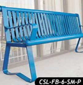 City Slicker Steel Bench: Patented D486,664