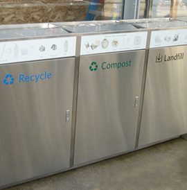 Trash and Recycling Receptacles